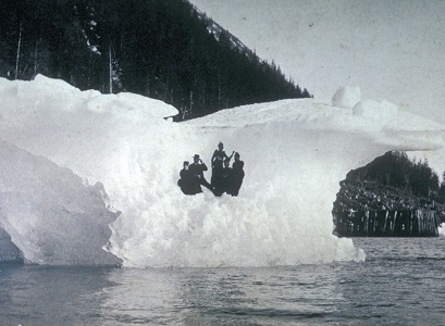 Mary Jane Callahan, Elizabeth McKenna and Patrick J. (Pat) Killeen near Juneau, AK, ca 1890