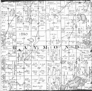 Raymond Township map, 1880