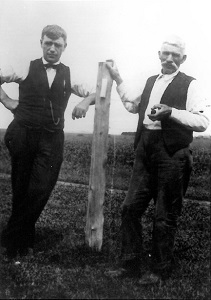 Will Martin and his uncle, Hugh Rooney, about 1920